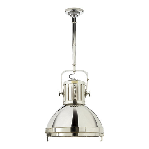 Montauk XL Pendant In Polished Nickel Ceiling Fixtures Lighting Product