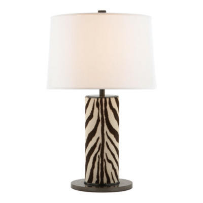 Beckford Table Lamp in Faux Zebra