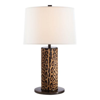 Beckford Table Lamp in Faux Leopard