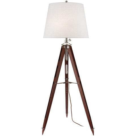 lamp in mahogany floor lamps lighting products ralph lauren. Black Bedroom Furniture Sets. Home Design Ideas