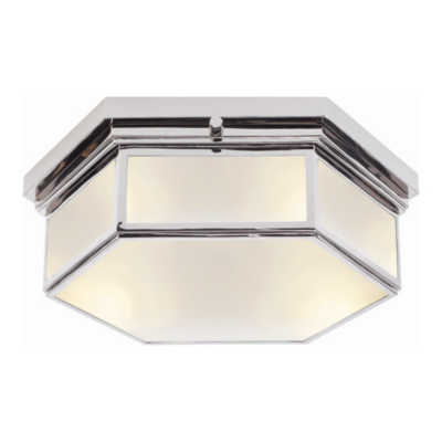 Berling Small Ceiling Fixture in Polished Nickel