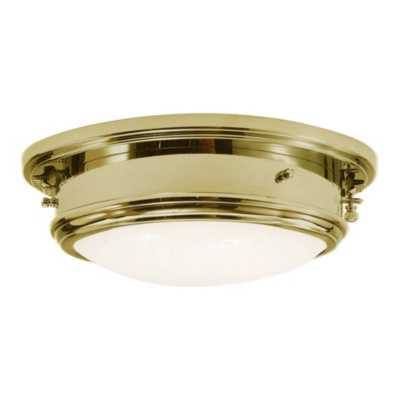 Marine Porthole Medium in Natural Brass