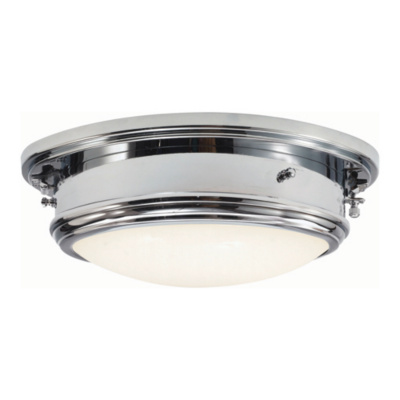 Marine Porthole Medium in Polished Nickel