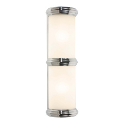 Deco Double Wall Sconce in Polished Nickel