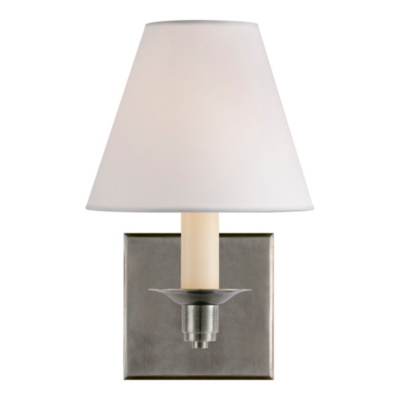 Evans Single Arm Sconce - Antique Nickel