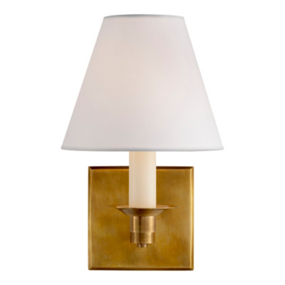 Evans Single Arm Sconce - Natural Bass