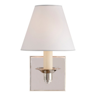 Evans Single Arm Sconce - Polished Nickel