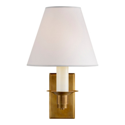 Evans Library Sconce - Natural Brass