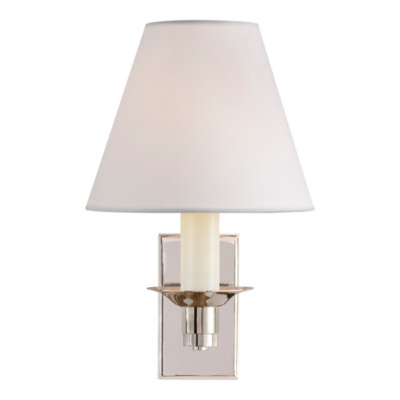 Evans Library Sconce - Polished Nickel