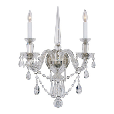 Daniela Medium Two-Light Sconce in Crystal