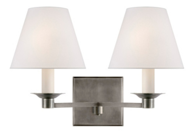 Evans Double Arm Sconce - Antique Nickel