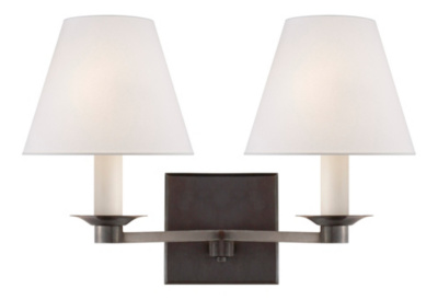 Evans Double Arm Sconce - Bronze