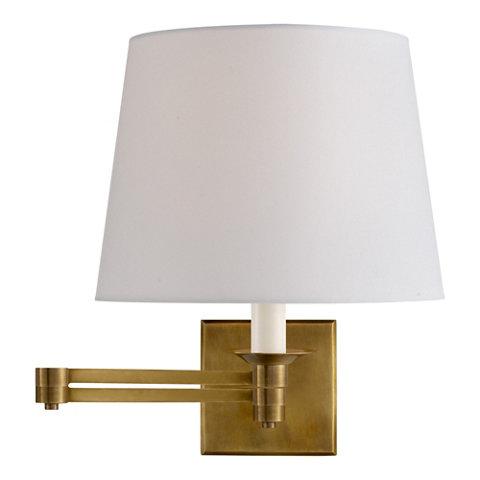 ralph lauren lighting fixtures. Evans Swing Arm Sconce - Natural Brass Wall Lamps / Sconces Lighting Products Ralph Lauren Home RalphLaurenHome.com Fixtures