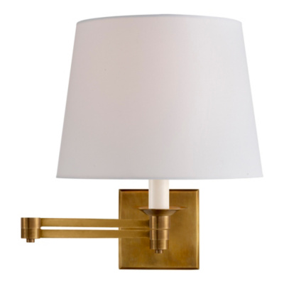 Evans Swing Arm Sconce - Natural Brass