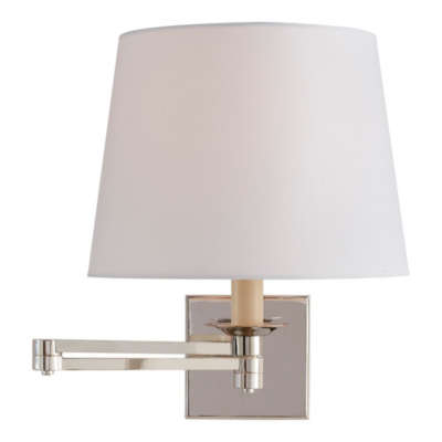 Evans Swing Arm Sconce - Polished Nickel