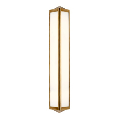 Geneva Medium Sconce - Natural Brass