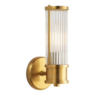 Allen Single Sconce in Natural Brass