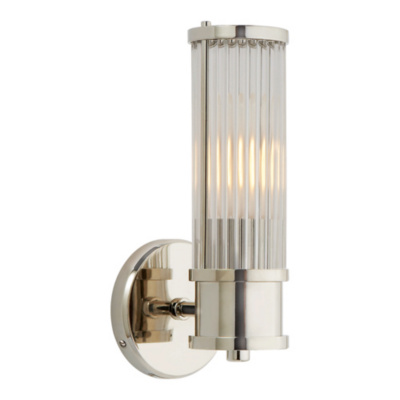 Allen Single Sconce in Polished Nickel