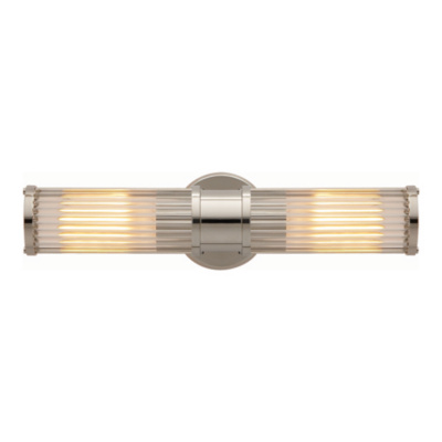 Allen Double Light Sconce in Polished Nickel