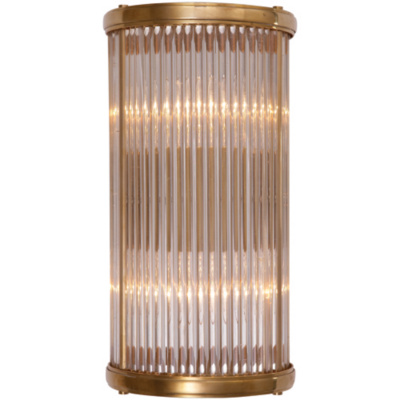 Allen Bath Small Linear Sconce in Natural Brass