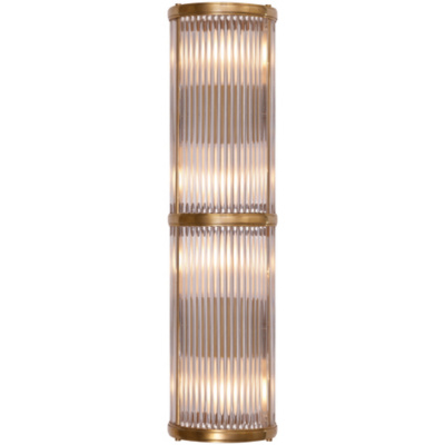 Allen Medium Linear Sconce in Natural Brass