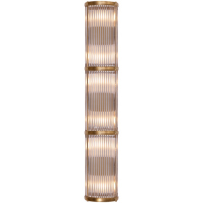 Allen Large Linear Sconce in Natural Brass