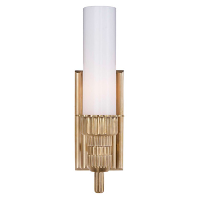 Briggs Bath Sconce in Natural Brass
