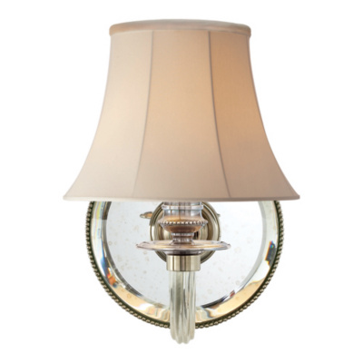 Aymeline Single Sconce in Butler's Silver