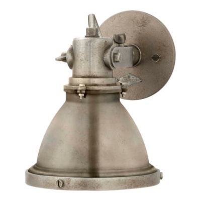 Fulton Small Sconce in Industrial Steel