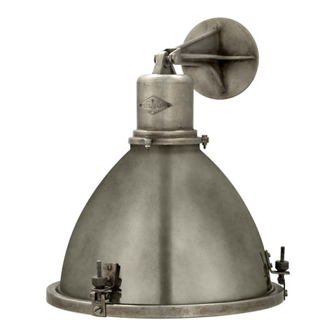 Fulton Large Sconce in Industrial Steel  Wall Lamps  Sconces