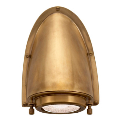 Grant Small Sconce in Natural Brass