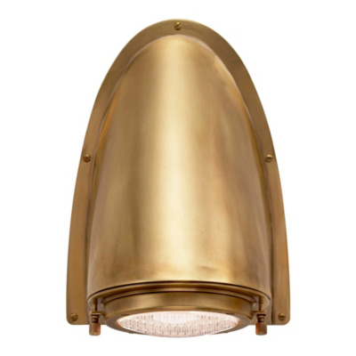 Grant Large Sconce in Natural Brass