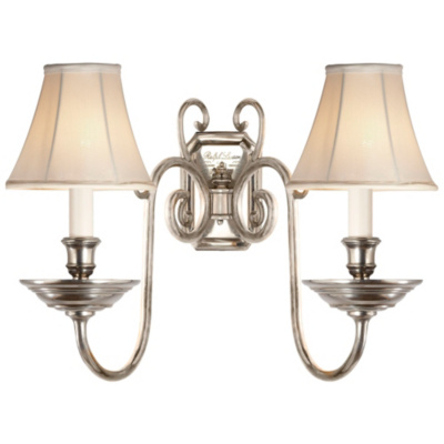 Lillianne Double Sconce in Butler's Silver