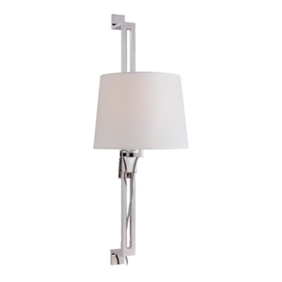 Riviera Tail Sconce in Polished Nickel