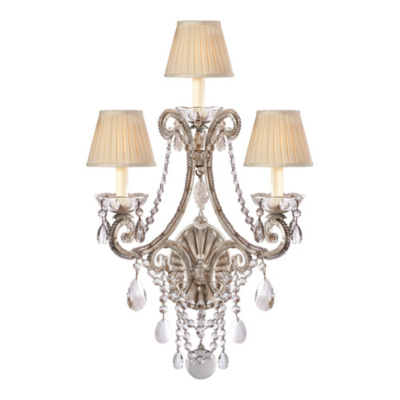 Adrianna Triple Sconce in Antique Silverleaf