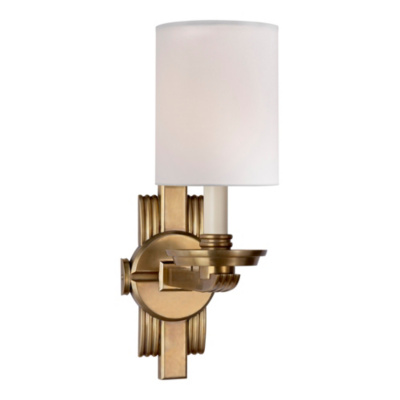 Chloe Jewelry Cuff Sconce in Natural Brass