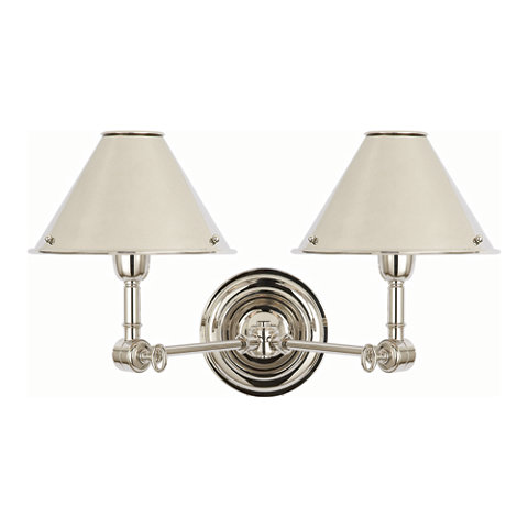 Anette Double Sconce In Polished Nickel Lighting