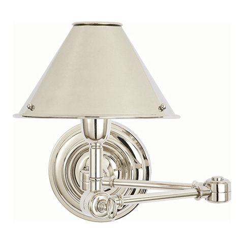 Anette swing arm sconce in polished nickel wall lamps sconces lighting products ralph Beautiful swing arm wall lamps and sconces