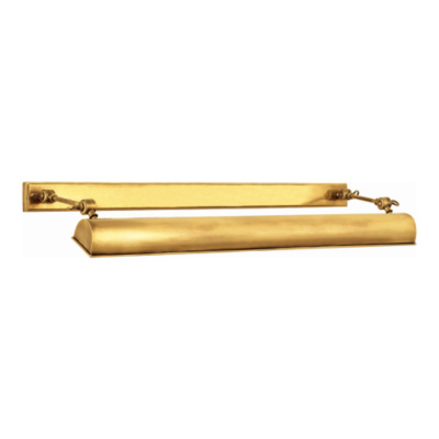 Anette Large Picture Light in Natural Brass