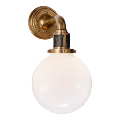 McCarren Single Sconce in Natural Brass