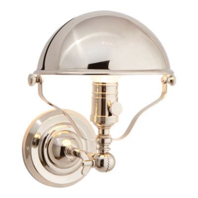 Singleton Sconce in Polished Nickel