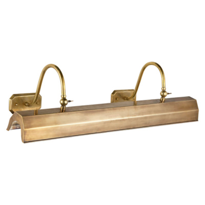 Willoughby XL Picture Light in Natural Brass