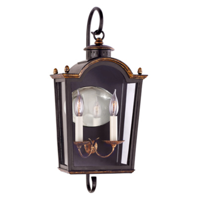 Brinkley Small Bracketed Lantern in Old Black Tole