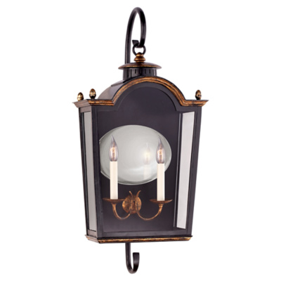 Brinkley Medium Bracketed Lantern in Old Black Tole