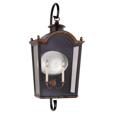 Brinkley Large Bracketed Lantern in Old Black Tole