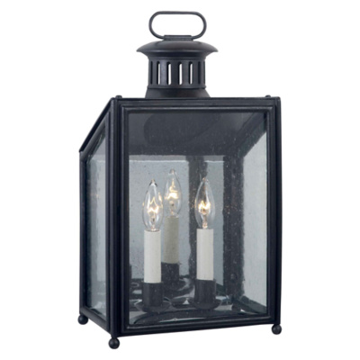 Mills Small Wall Lantern in Aged Iron