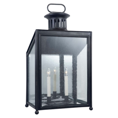 Mills Large Wall Lantern in Aged Iron