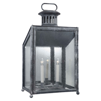 Mills Large Wall Lantern in Garden Zinc
