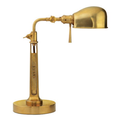 RL '67 Boom Arm Task Lamp in Natural Brass