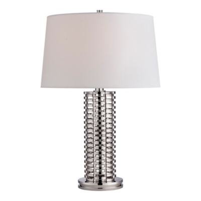 Waverly Woven Link Table Lamp in Polished Nickel
